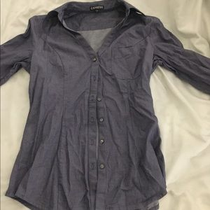 Purple gray express small blouse